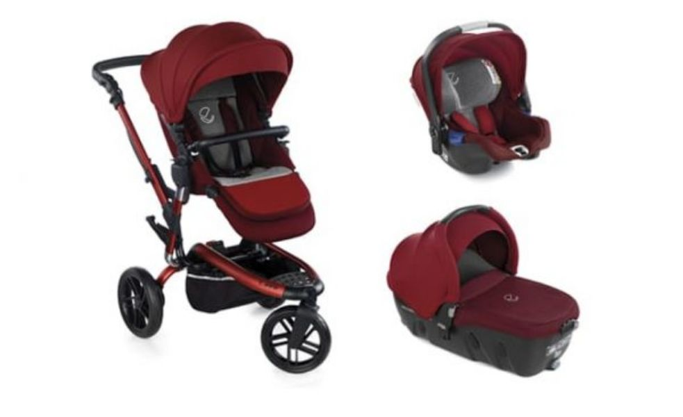 Trio-Trider-+-ovetto-Koos-iSize-+-portabebè-Transporter-2-colore-Red-Being-Jané